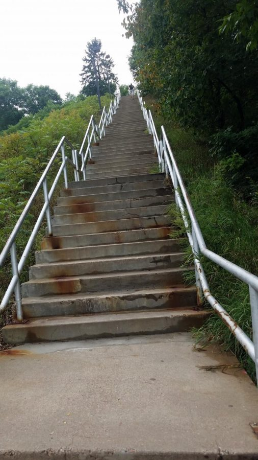 The+stairs+between+The+Hill+and+Horan+Hall+are+one+of+the+most+daunting+things%2C+but+are+a+good+metaphor+for+my+chronic+illness+%E2%80%94+difficult+but+manageable.+%0A%0A