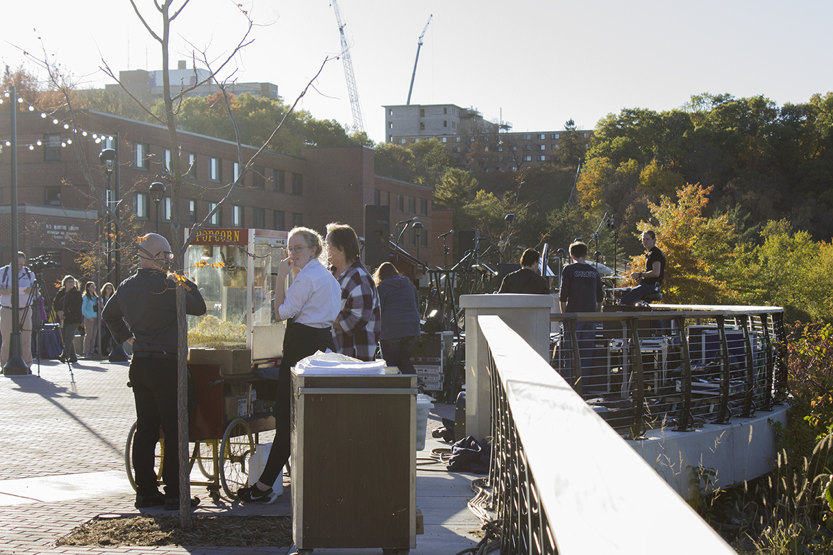 A celebration Thursday marked the official completion of the Garfield Avenue construction and Chippewa River Terrace.