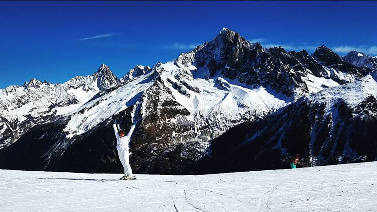 Skiing+in+the+French+Alps+at+Mont+Blanc+in+Chamonix%2C+France%2C+where+the+first+Winter+Olympics+took+place.