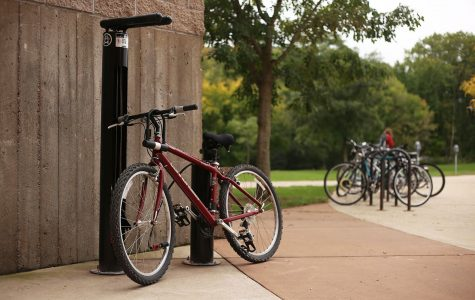 Free bike-fixing stations recently installed in several locations on UW-Eau Claire campus