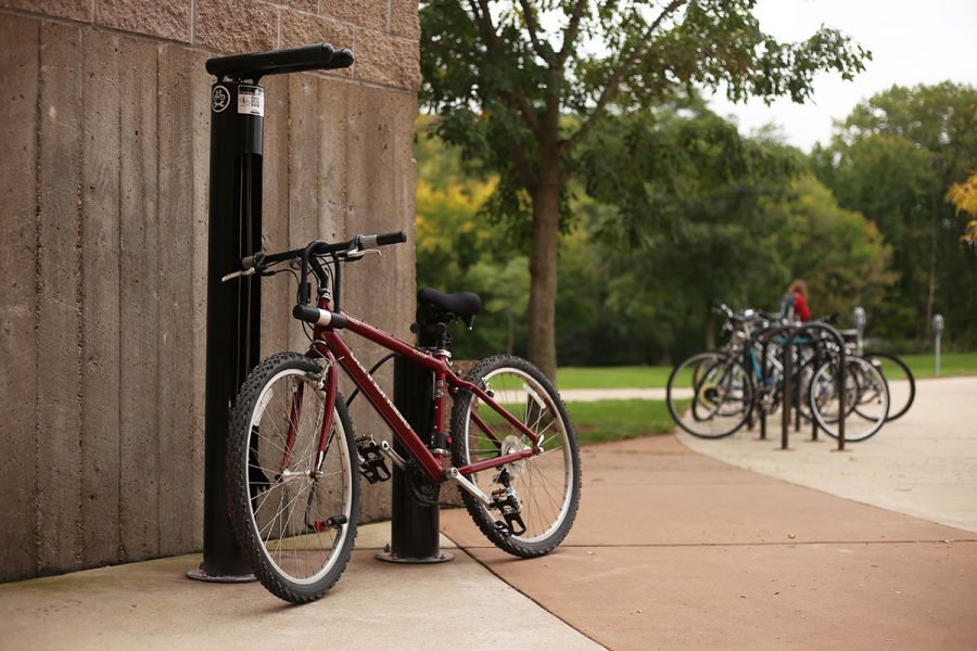 The Student Office of Sustainability has installed new bike-fixing stations at three different locations around campus.