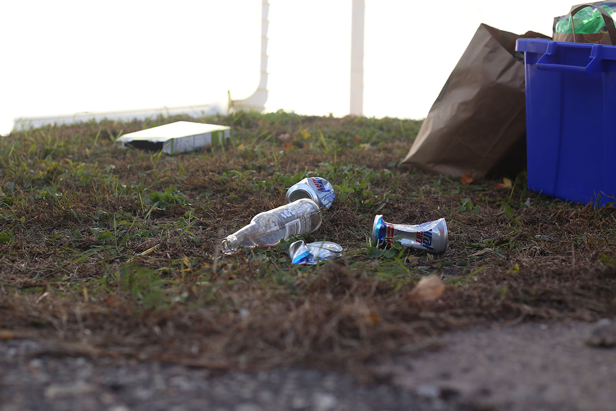 Trash and other various items on peoples front yards depict the manner that has been passed.