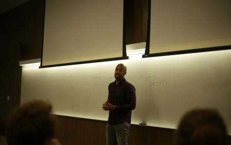 Mandela Barnes, Democratic candidate for lieutenant governor, spoke with UW-Eau Claire students in Centennial hall last Tuesday, Oct. 2.