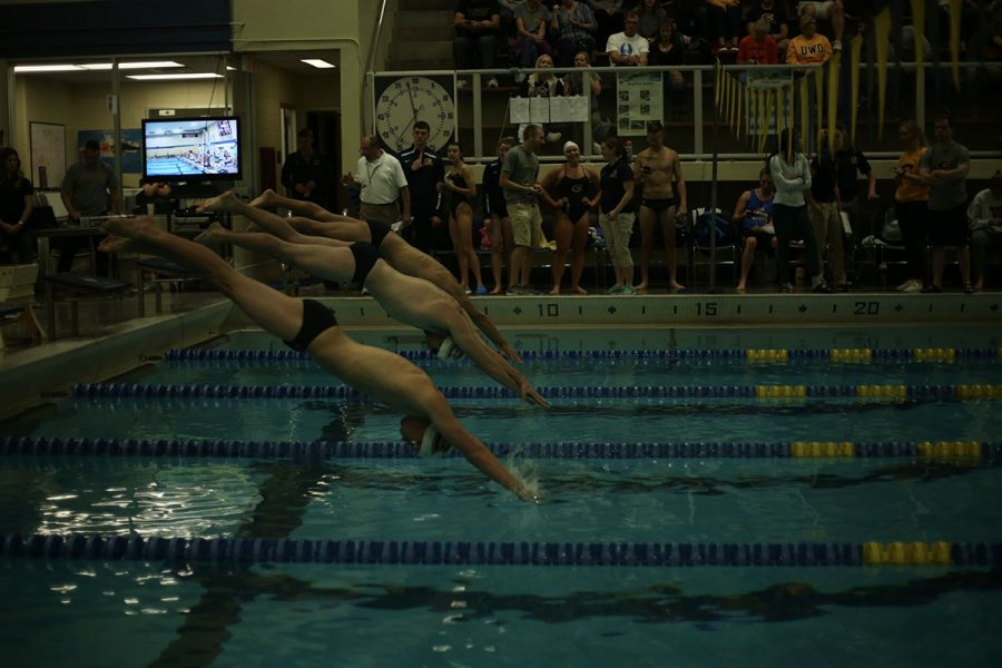 UW-Eau+Claire+dove+and+raced+into+various+swim+events+as+they+faced+the+UW-Oshkosh+Titans+at+home.