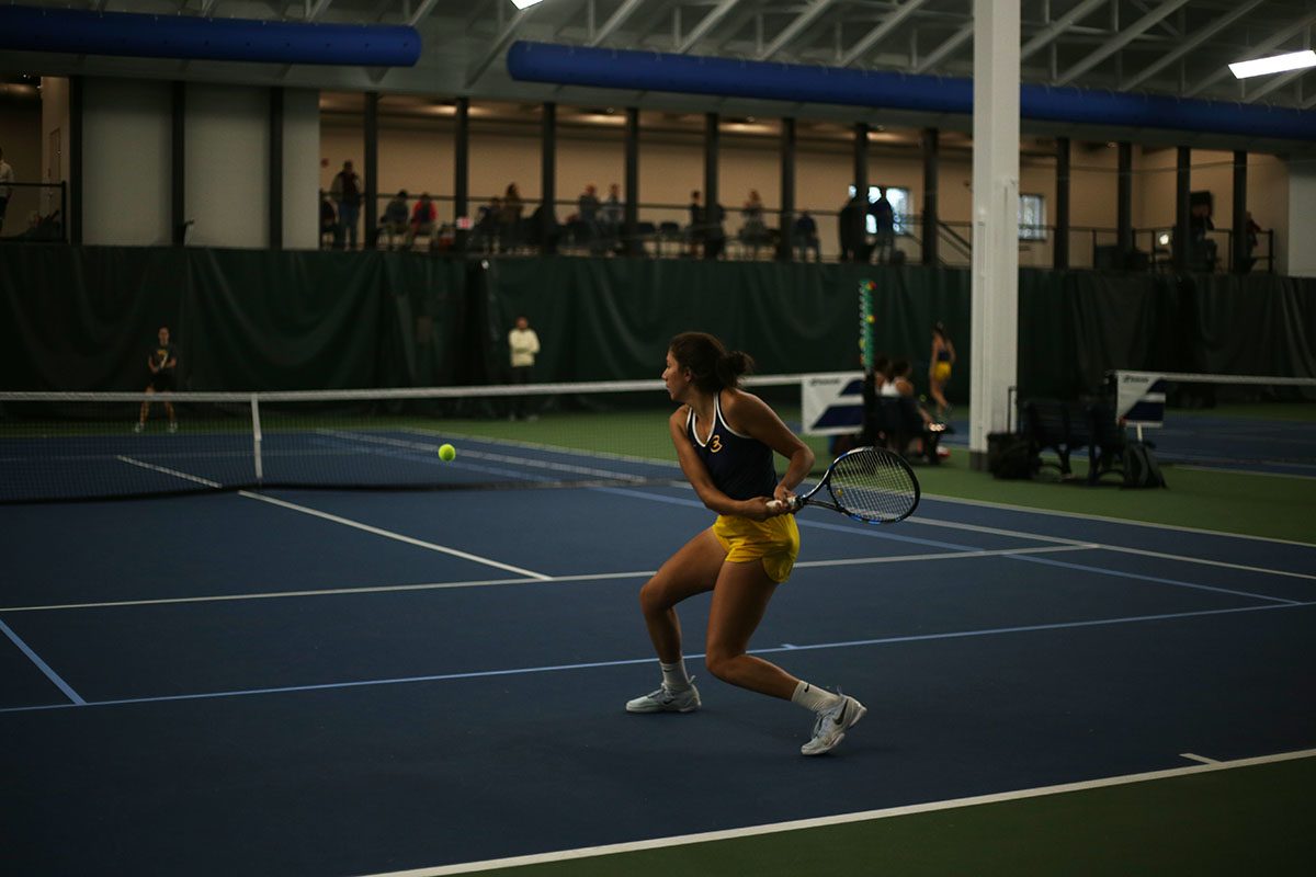Womens tennis dominated once again as they were on the home advantage in the John & Fay Menard YMCA Tennis Center.