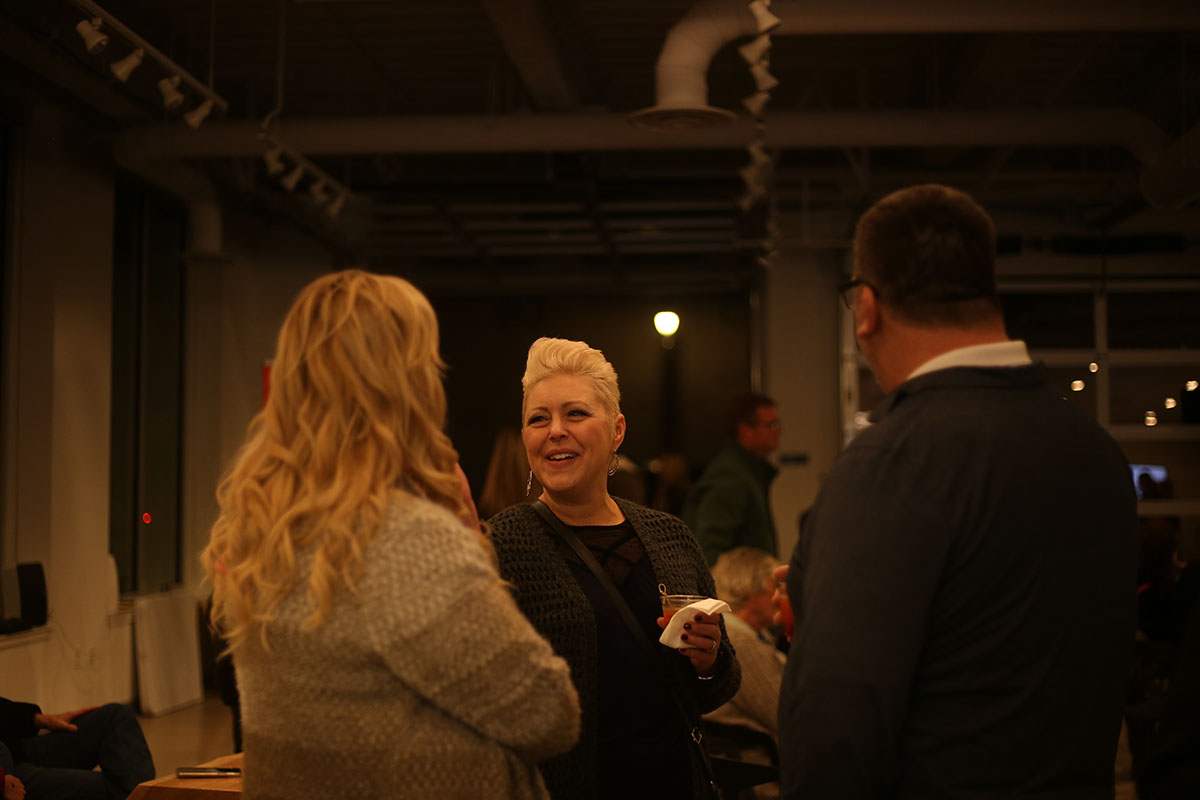 The Eau Claire community gathered at Visit Eau Claire's opening while enjoying local music, drinks and sharing some laughs.