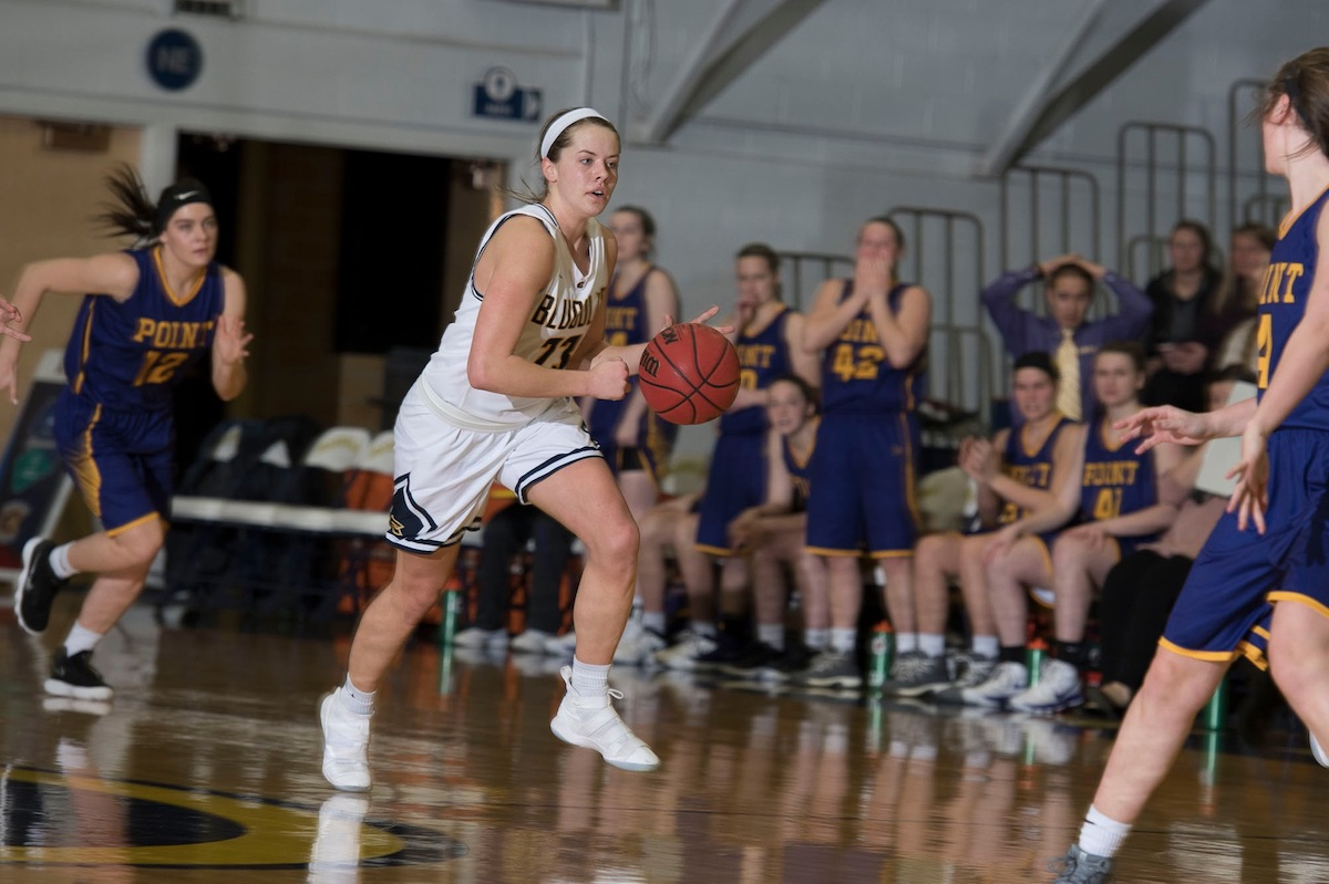 Hallee Hoeppner was leading scorer in games against Ripon College and St. Scholastica.
