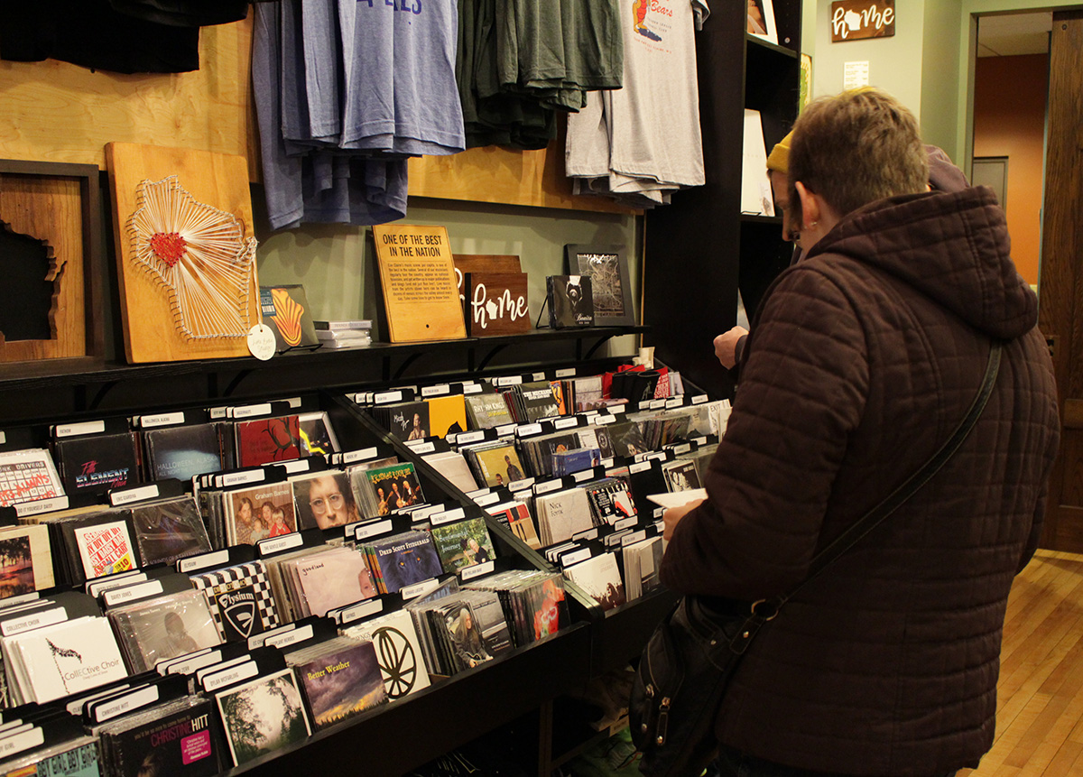 The+Local+Store+supports+the+music+industry+by+selling+CDs+of+local+artists.+