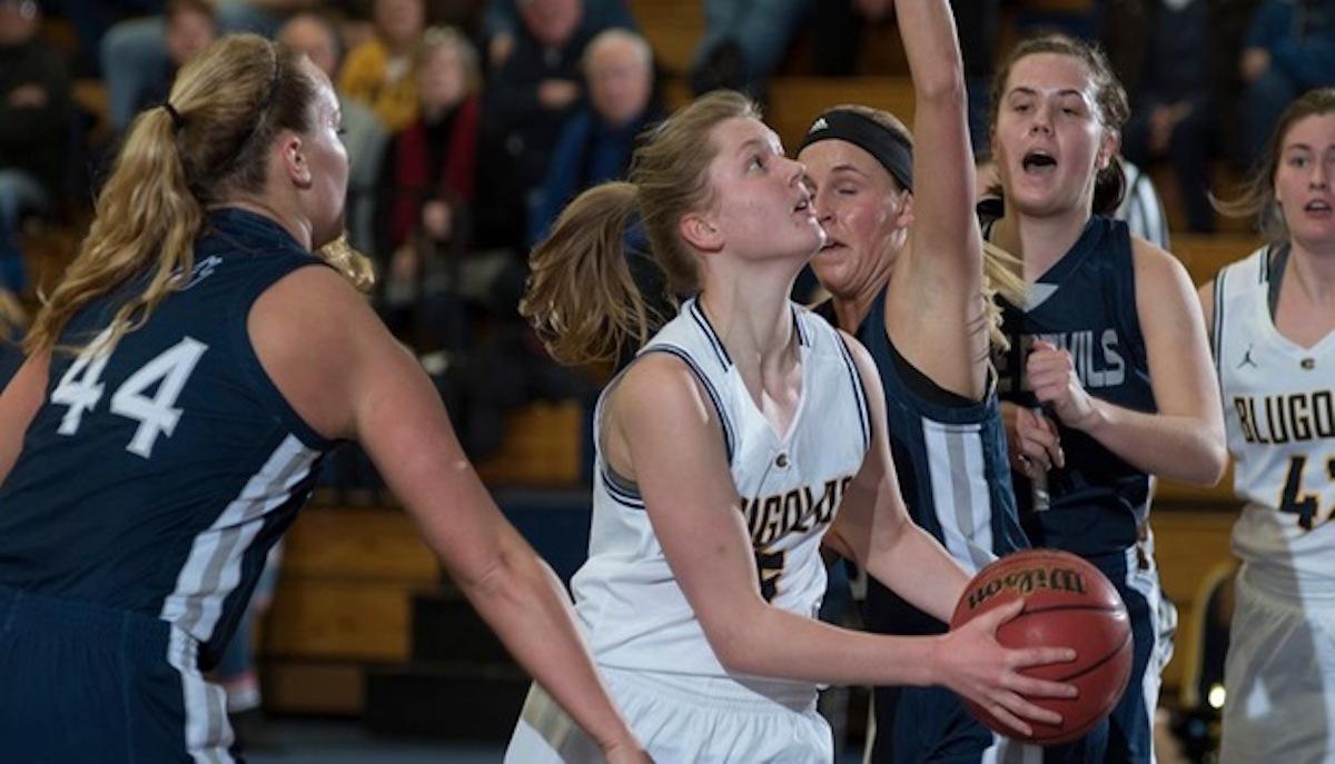 Kelsey Bakken, a second-year, looks to take a shot.