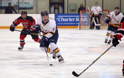 Blugolds fall to Falcons 1-2
