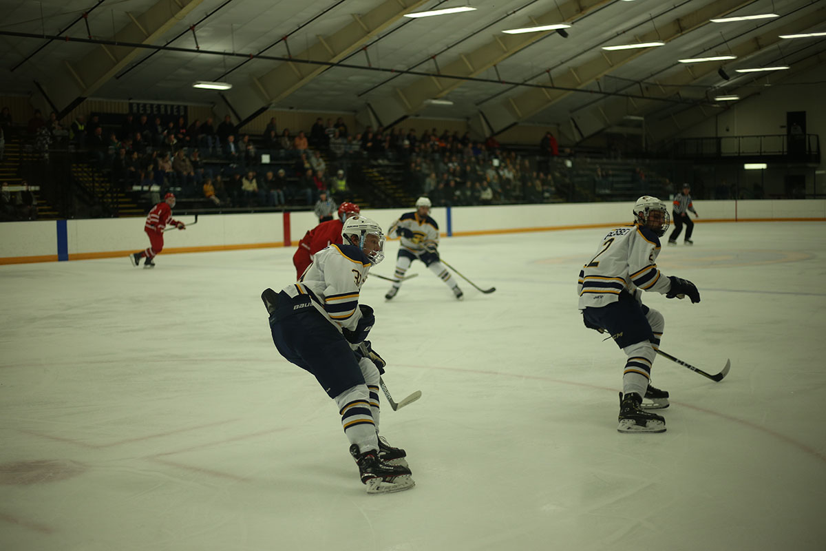 The Blugolds traveled to Michigan to take on Finlandia, leaving with a win and a loss. This picture is from our files.