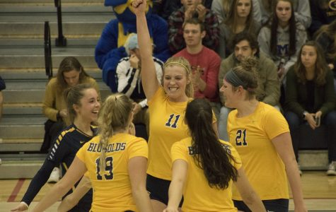 The Blugolds came out on top against UW-Whitewater during the WIAC Women's Volleyball Championship on Saturday.