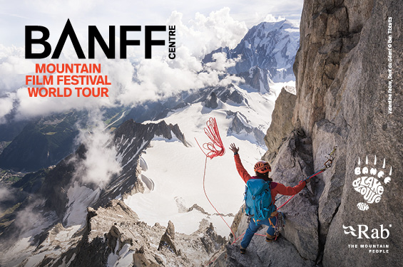 Banff Mountain Film Festival poster from Pablo Center at the Confluence website.