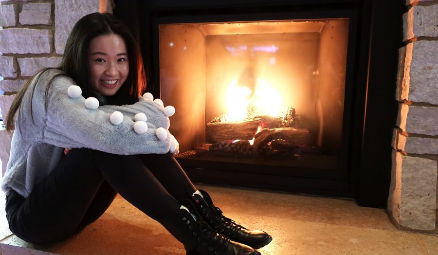 Even+though+my+snowball+sweater+makes+me+want+to+shimmy+everywhere%2C+I+decided+to+sit+by+the+fire+to+stay+cozy+and+warm.
