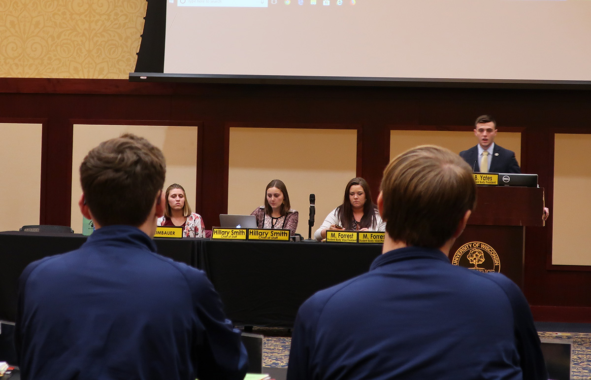 Five bills were introduced at Monday's meeting and will be voted on by Student Senate next week.