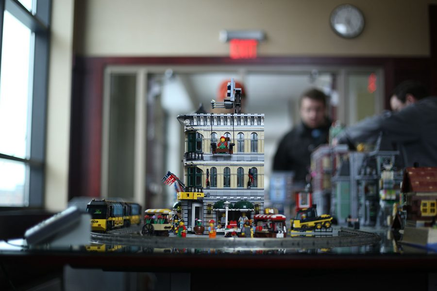 Legos+were+presented+in+the+alumni+room+with+a+number+of+castles%2C+characters+and+machines.
