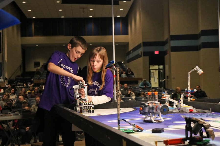 "The ""Lunarticks"" from West Salem were one of many teams competing in the regional, space-themed Blugold Beginnings Robotics Competition on Saturday."