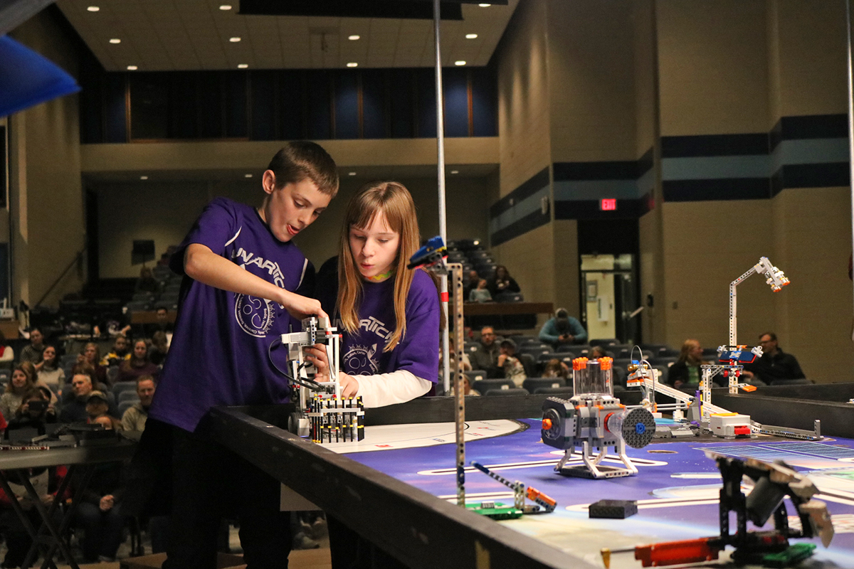 """The """"Lunarticks"""" from West Salem were one of many teams competing in the regional, space-themed Blugold Beginnings Robotics Competition on Saturday."""