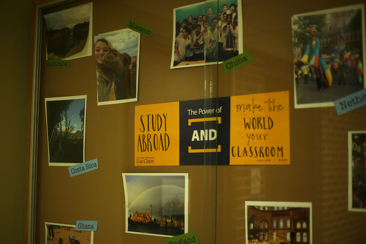 In downstairs of Schofield, The Center for International Education can be found with more information on where to study around the world.