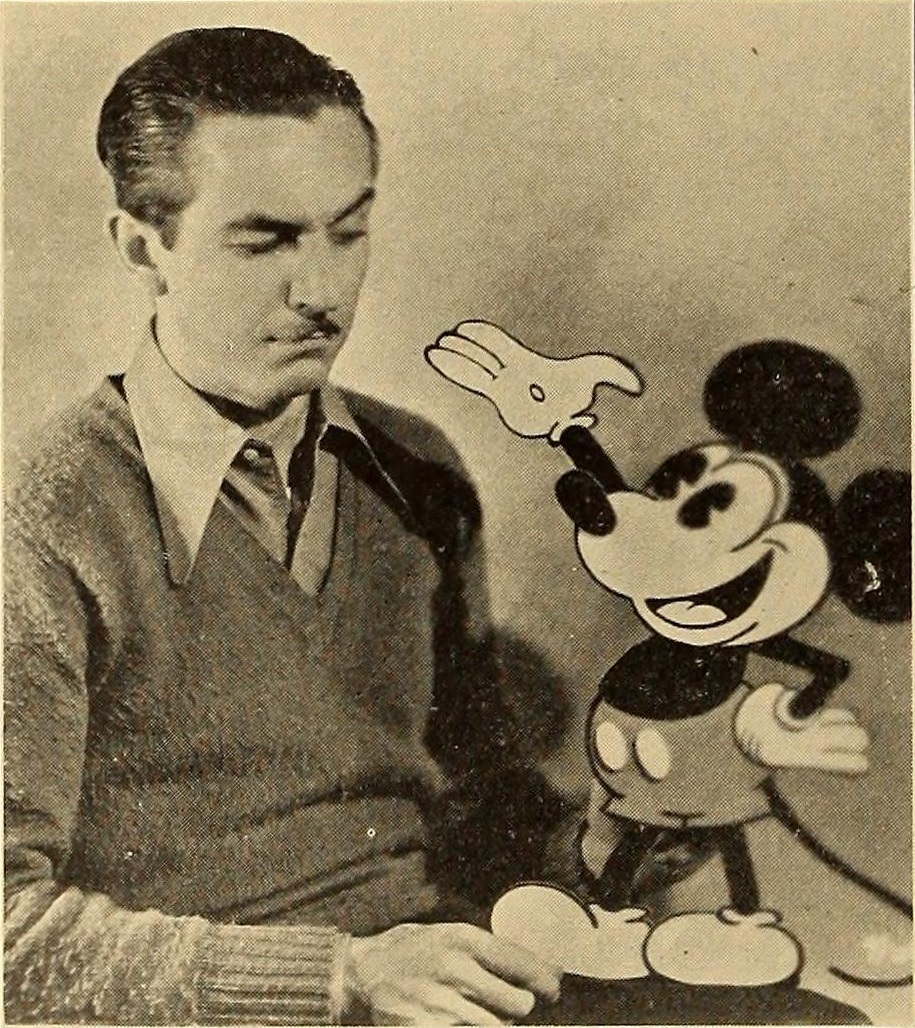 Walt Disney with his greatest creation, Mickey Mouse.