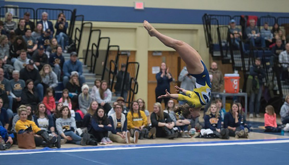 Blugolds not only won the overall meet against Hamline, but also placed first in three out of the four events.