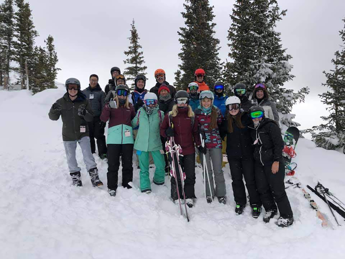 SUBMITTED The ski and snowboard club poses for a picture while on their annual Colorado trip. This year, over winter break, the club went to Telluride Ski Resort.