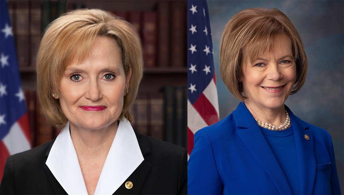 All politics aside, Cindy Hyde-Smith (left)  and Tina Smith (right) — two new recruits in the 116th Congress — are some seriously strong female leaders in our country.