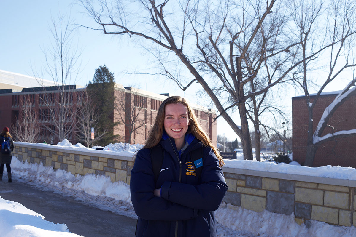 Courtney Wittig, a fourth-year forward on the women's hockey team, was the first Division III athlete to be drafted into the NWHL.