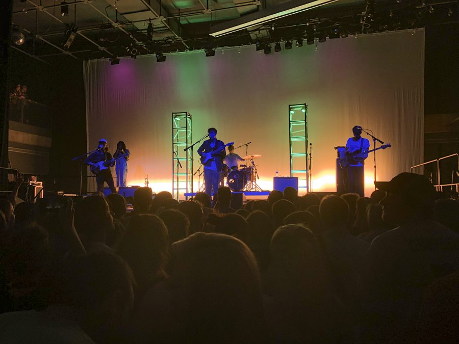 Hippo Campus performs at a concert at UW-River Falls in May 2018.
