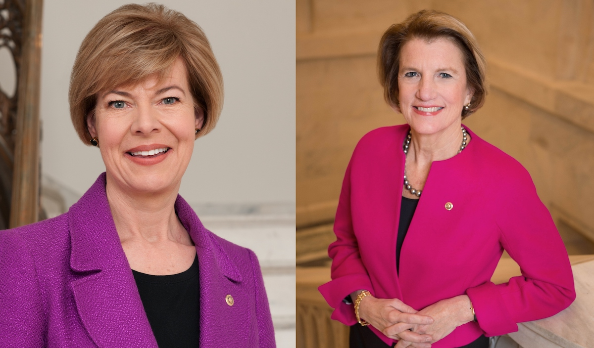 Senators Tammy Baldwin and Shelly Moore Capito strive to promote bipartisan cooperation.