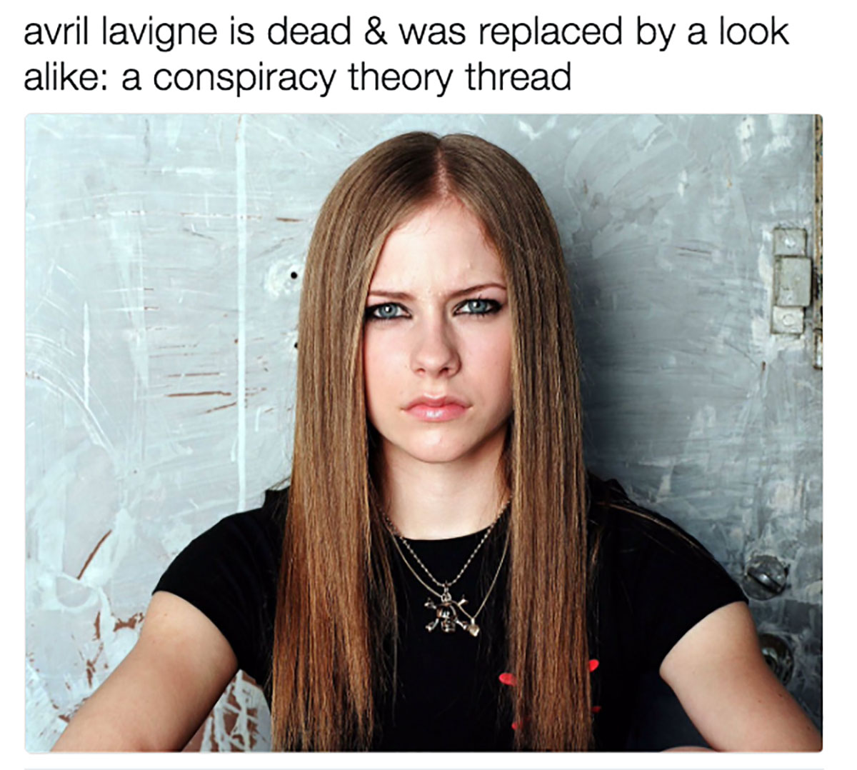 As an Avril Lavigne conspiracy takes over Twitter, everyone is left questioning her true identity.