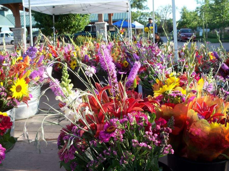 Freshly+picked+flowers+for+purchase+at+the+summer+2018+Farmers+Market.