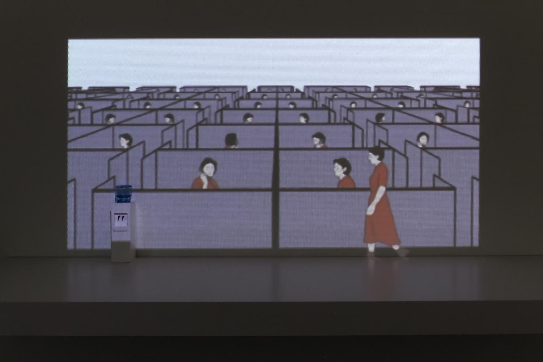 "A shot from Hallie Bahn's short film, ""Habitual."""
