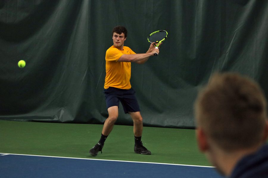 Adam Burk defeated UW-Lacrosse's Joshua Williams 6-2, 6-0 in No. 6 singles on Friday.