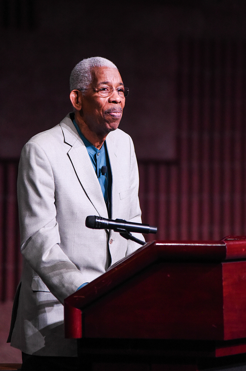 "Ernest ""Rip"" Patton visited Eau Claire's Pablo Confluence Center on Monday night to deliver a deeper understanding of the civil rights movement."