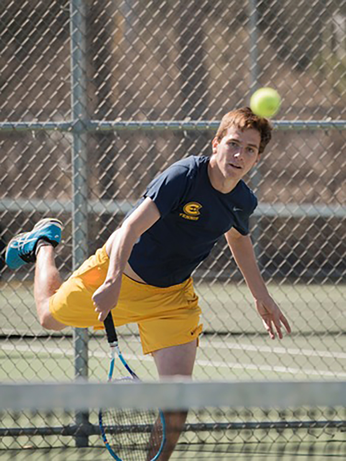 Washington University defeated the UW-Eau Claire men's tennis team with a 9-0 victory April 5, but Blugolds achieved a 6-3 win against Principia College the next day.