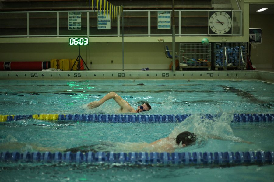 The UWEC Swim Club meets twice a week from 8:30-9:45 on Mondays and Wednesdays and is open to anyone.