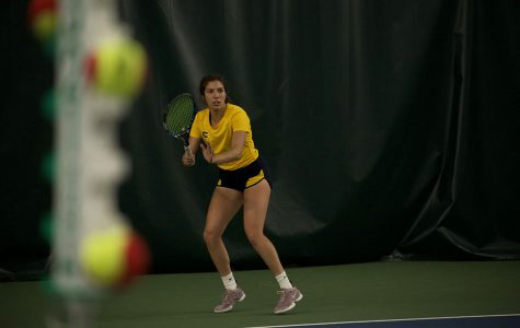 Natalie Wijesinghe, pictured here, competed and came out with a 6-0 and 6-2 win.