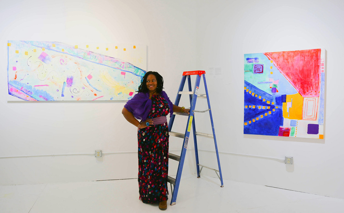 Eyenga Bokamba is a Minneapolis-based abstract artist who views art — especially installation art — as an invitation for connection, confrontation, reflection and renewal. She will be on campus this Thursday with an installation piece that functions as a human carwash.