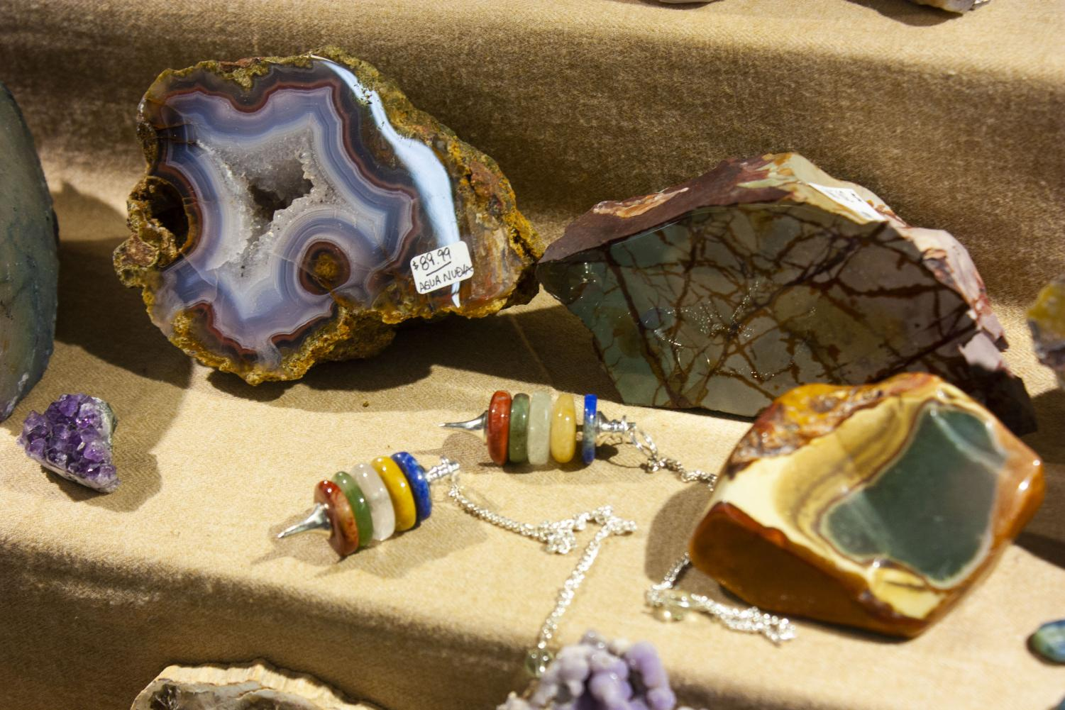 The+Gem+Shop+Inc+brought+many+colorful+geodes+and+agates+to+the+56th+Annual+Chippewa+Valley+Gem+and+Mineral+Society+show+and+sale.+