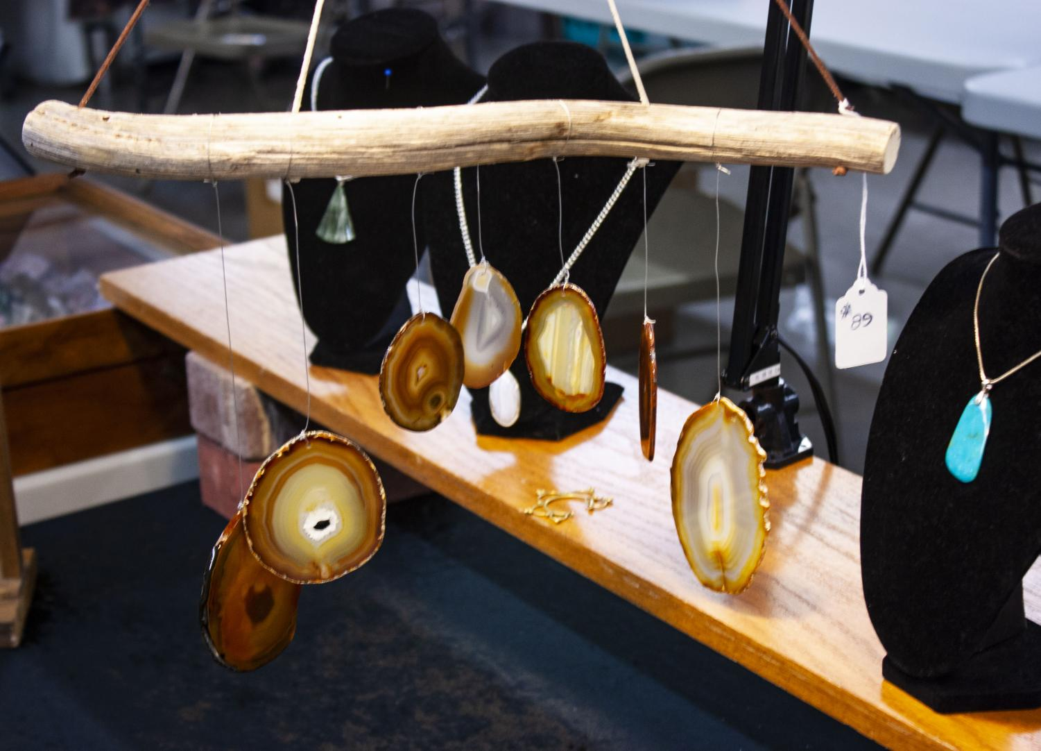 These+agates+were+included+in+a+decorative+hanging+piece.