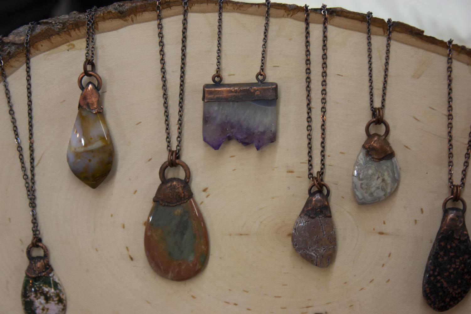 The+Bohemian+Cottage+Co.+was+selling+agate+and+amethyst+jewelry.