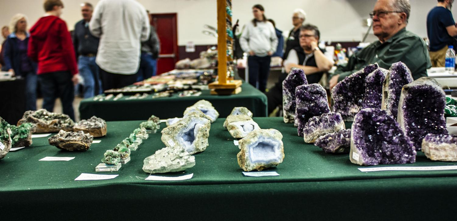 These+geodes+contained+a+variety+of+colored+crystals+on+their+insides.+