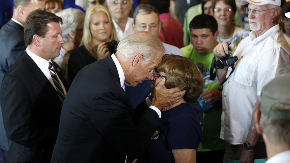 Former Vice President Joe Biden is receiving a hit to his reputation as women step up about his touchy behavior.