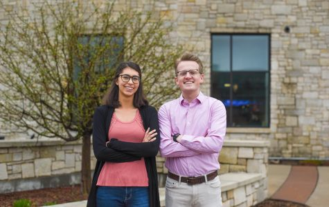 Newly sworn in student body president and vice president, Charlie Johnson and Anna Ziebell, took office Monday night.