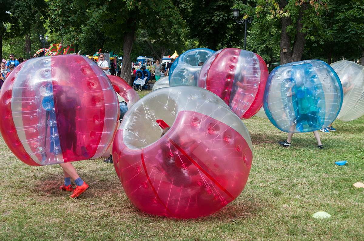 The UW-Eau Claire College of Business Student Advisory Council is hosting a bubble soccer charity and bonding event on Friday, May 4 in Towers field on upper campus.