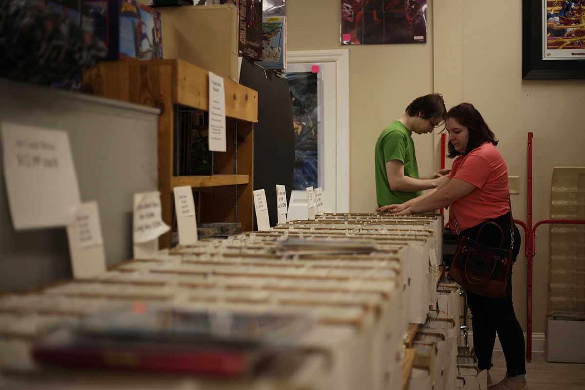 The Eau Claire community scavenged for their favorite comics ranging from superhero, horror, western and many more.