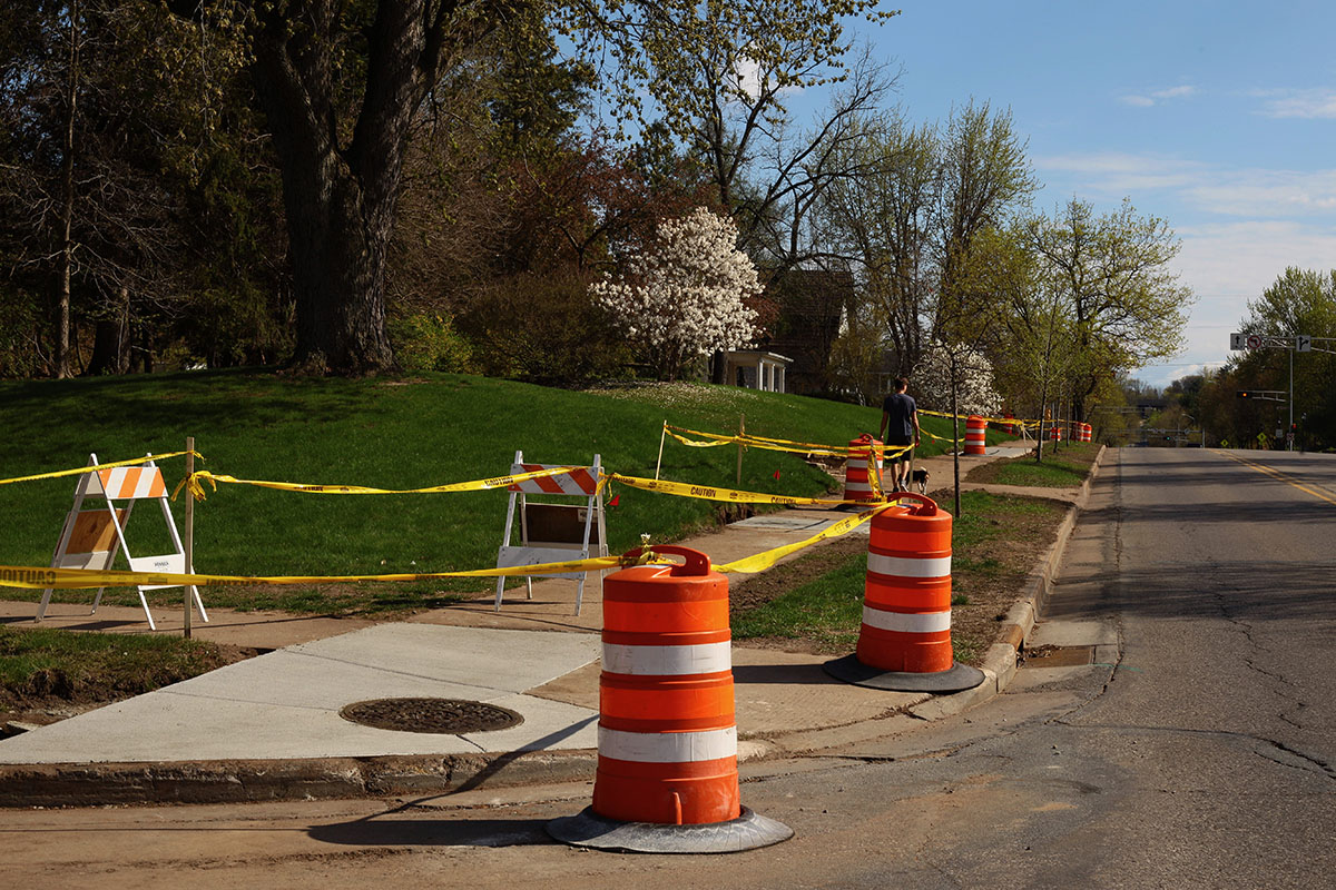 Estimates place construction ending mid-August, with some landscaping continuing afterwards.