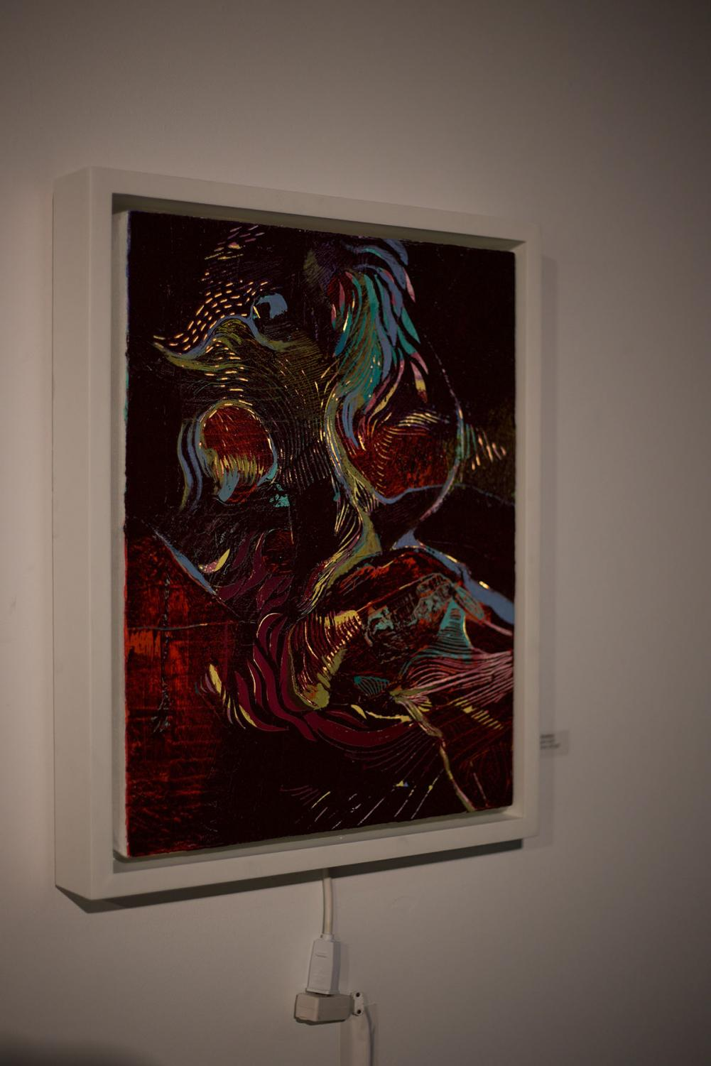 Stensberg+utilized+abstract+work+in+her+paintings%2C+such+as+this+piece%2C+titled%2C+%E2%80%9CSanguine+Squid.%E2%80%9D