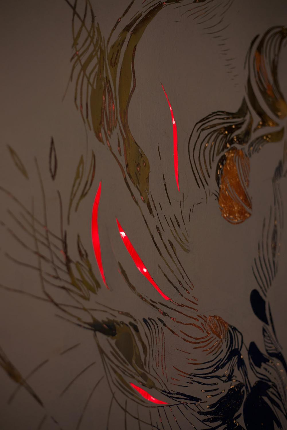 The+LED+lights+shined+through+her+painting+titled+%E2%80%9CResurfaced.%E2%80%9D